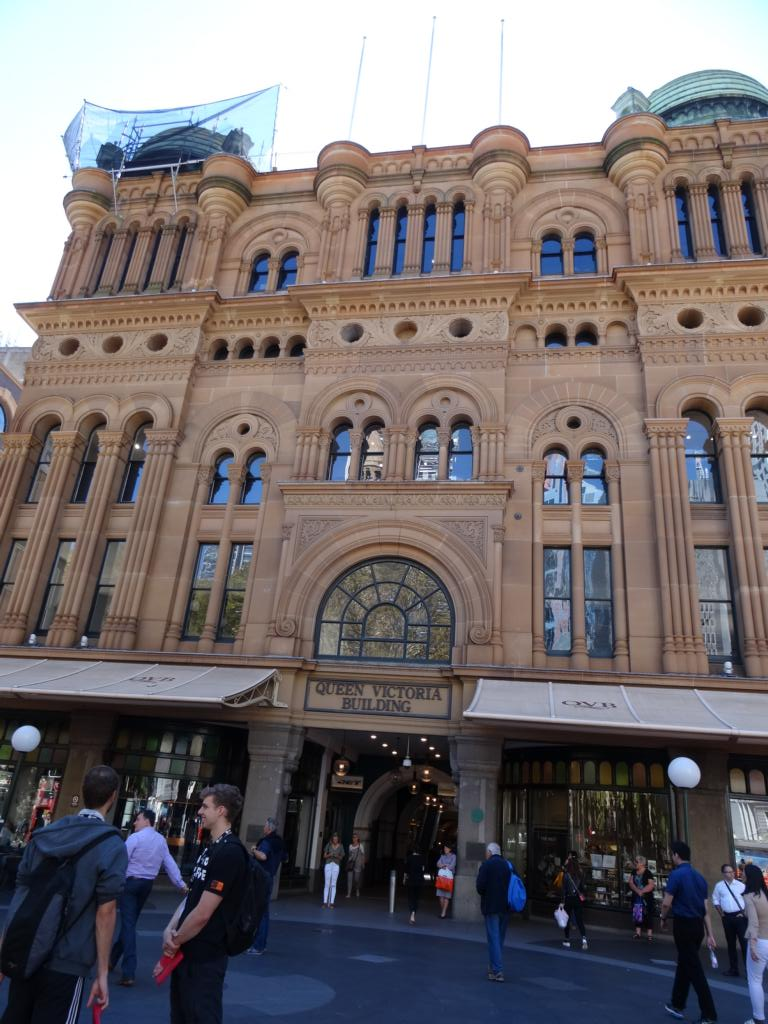 Queen Victoria Building von außen.